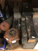 A collection of items to include a Victorian / early 20th Century greenhouse heater,