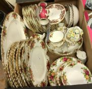 "A Royal Albert ""Old Country Roses"" part dinner service comprising ten dinner plates,"