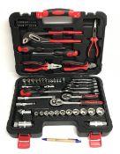 An Amtech 65 piece home tool set