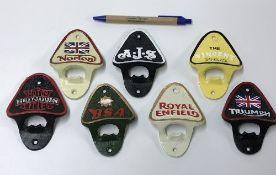 A collection of seven various modern cas