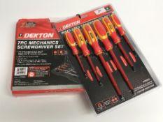 A Dekton insulated 6 piece screwdriver s