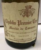 Five bottles Chablis 1er Cru Montée de Tonnere Domaine François Raveneau 1996 and two 1997