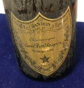 One bottle Möet et Chandon Champagne Cuvée Dom Perignon 1966