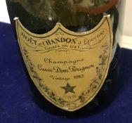 One bottle Möet et Chandon Champagne Cuvée Dom Perignon 1985