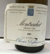 Eight bottles Montrachet Grand Cru Olivier Leflaive 1991 CONDITION REPORTS Levels