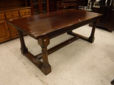 A 20th Century oak refectory style dining table,