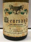 One bottle Meursault Les Rougeots,