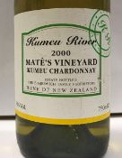 Thirteen bottles Kumeu River Matés Vineyard Kumeu Chardonnay Brajkovic 2000