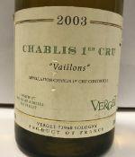 """Seven bottles Chablis 1er Cru """"Vaillons"""" Verget 2003"""