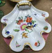 A Herend shell decorated fruit bowl No.7