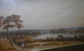 """JOHN VARLEY """"Extensive river landscape w"""