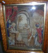 A framed and glazed needlework study of