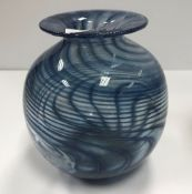 An Anthony Stern blue and white swirl de