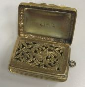 An early Victorian silver gilt vinaigret