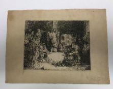 "AFTER REMBRANDT HARMENSZ VAN RIJN (1606-1669) ""Christ preaching (La Petite Tombe)"","