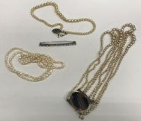 A freshwater pearl single strand necklac