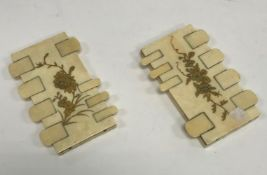 A pair of Japanese Meiji period ivory an