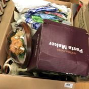 Two boxes of sundry items to include dec