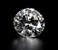 A ROUND BRILLIANT CUT DIAMOND Approximate weight 1.19ct Clarity grade VVS1 Colour grade G Anchor