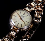 A TUDOR LADY'S WRISTWATCH c.1959 in 9ct gold case No. 336984, signed Rolex, signed Tudor 17 jewelled