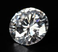 A ROUND BRILLIANT CUT DIAMOND Approximate weight 1.27ct Clarity grade VVS1 Colour grade E Anchor