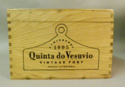 Quinta do Vesuvio 1995 Port, 6 bottles, presentation wooden box and card outer box