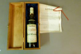 Locke's Single Malt Pure Pot Still Irish Whiskey No 2965 of 5000, John Locke & Co Ltd, 40%, 70cl,