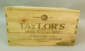 Taylor's 1983 Vintage Port, 12 bottles, OWC