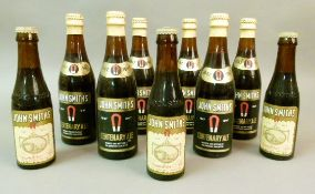 Five bottles of John Smith's Centenary Ale, 1847-1947, brewed and bottled at the Brewery, Tadcaster,