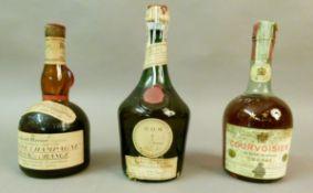Mixed - Courvoisier Cognac *** Luxe, 40, 1 bottle, D.O.M Benedictine, 43 Degres, 1 bottle, Grand