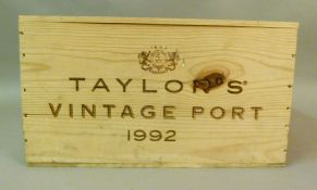 Taylor's 1992 Vintage Port, 12 bottles, OWC