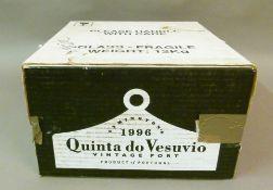 Quinta do Vesuvio 1996 Port, 6 bottles, presentation wooden box and card outer box