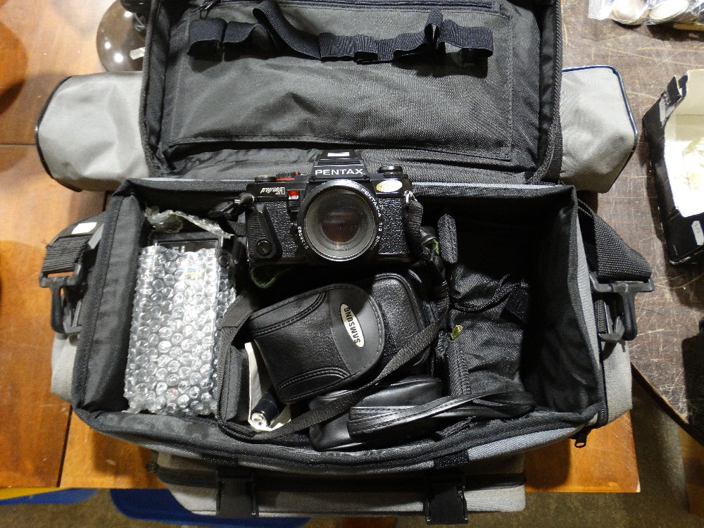 Lot 338 - A Quantity Of Vintage Camera Equipment To Include Pentax