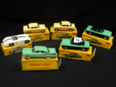 Six Boxed Dinky Toy Model Cars To Include Humber Hawk No 165