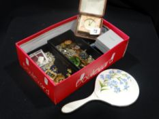 A Box Of Mixed Collectable Badges & Brooches, To Include Modern Lalique