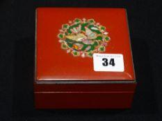 A Mid 20th Century Russian Lacquerwork Trinket Box