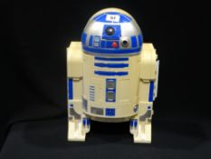 A Vintage Star Wars R2d2 Storage Case, Containing Collectable Figures
