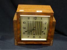 An Art Deco Period Mantel Clock