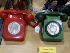 Two Retro Dial Telephones