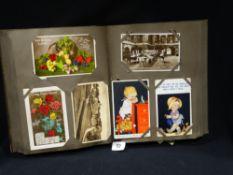 An Album Of Vintage Postcards