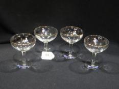 Four Vintage Babycham Glasses