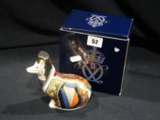 A Royal Crown Derby Limited Edition Paperweight, Welsh Corgi