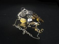 A Small Box Of Costume Jewellery