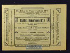 "Children's Building Bricks Catalogue ""Richter's Designs for Architectural Models"" circa 1880-90s A"