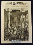 India - 1876 The Prince of Wales Visiting The Monkey Temple, Benares engraving sketched by one of