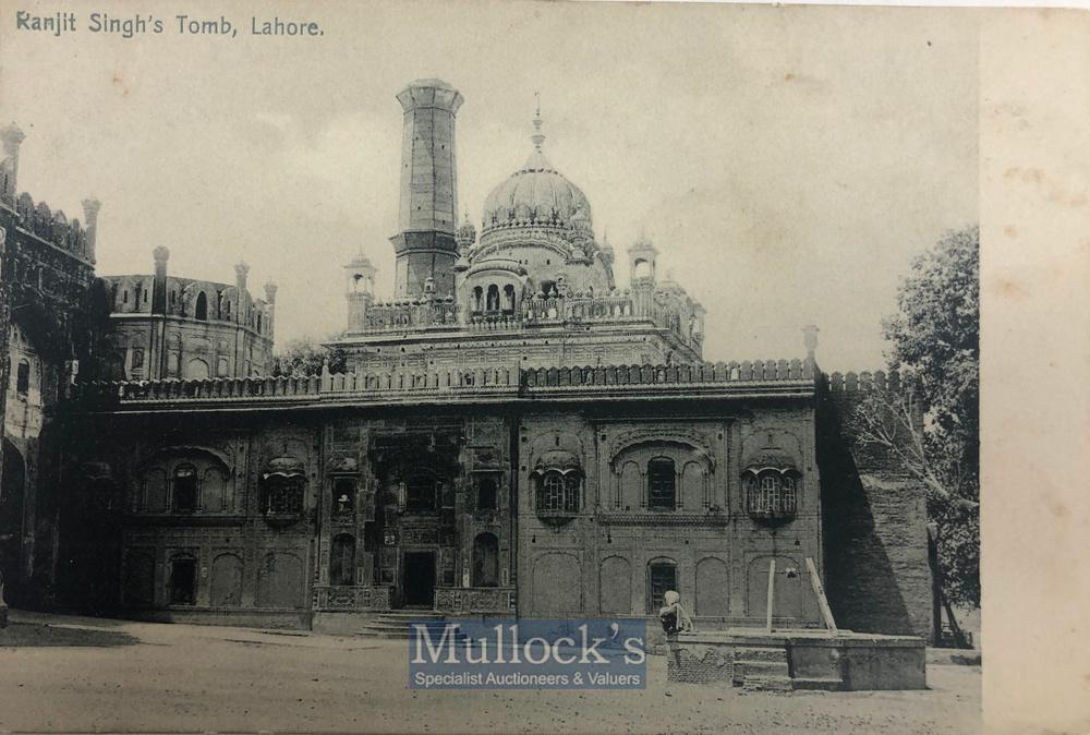 Lot 868 - India & Punjab – Tomb of Ranjit Singh Postcard an original vintage postcard of Samdhi of Maharajah