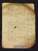 Queen Anne Period Milliners Bill 1704 – A Manuscript Bill made out for making clothes for various