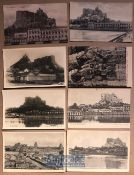 India - Collection of 8x postcards of Trichinopoly India - Monuments & Hindu temples. Some real