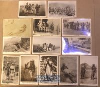 India - Collection of 13x real photo postcards of tribesman & Loosewalas N.W.F.P, India. Views