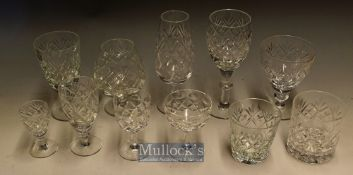 Quantity of Crystal Cut Glassware,purportedly all by Webb Corbett, to include a wide variety of